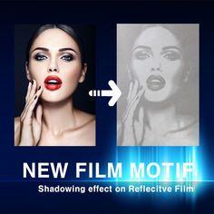 NEW FILM MOTIF HOT FIX  Cut & Engraved by Machine  Shadowing effect on Reflecitve Film  Please contact us.  info@shine-art.com #shineart #film #motif #reflective