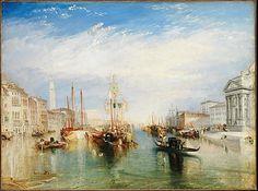 Venice, from the Porch of Madonna della Salute, by Joseph Mallord William Turner, c 1835. Metropolitan Museum of Art.