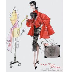 Fashion Designer™ Barbie® Doll illustration by Robert Best | Barbie Collector