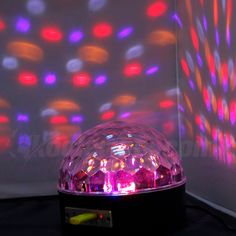 Fuloon Bluetooth 25W RGB MP3 Crystal Magic Ball Sound Activate Party Xmas Club Disco DJ Stage IR Remote Welcome Holidays, Dj Stage, Led Curtain Lights, Crystal Magic, Wedding Places, Remote, Bluetooth, Xmas, Club
