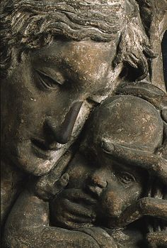 Madonna and Child, detail - Workshop of Donatello, after ca. 1450, Terracotta, polychromed, H. 29 in. (73.7 cm.). The Metropolitan Museum of Art.