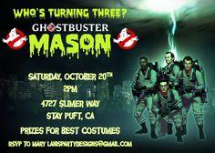 Ghostbusters Invitation  Halloween Costume by lanispartydesigns, $12.50  #iloveavocadosforhalloween