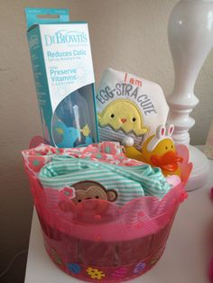 Babys first easter basket ideas for a 7 month olds easter basket easter basket for infant negle