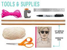 Flamingos + Fringe BlogCopper Pipe & Tassel Wall Hang • DIY • ROOM DECOR • HANDMADE