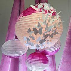 Dazzling Butterfly Paper Lanterns