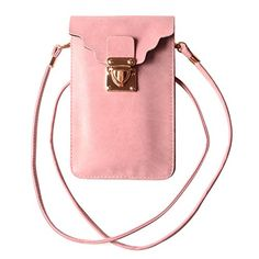 New Trending Shopper Bags: KISS GOLD (TM) Luxury Matte PU Leather Mini Crossbody Single Shoulder Bag Cellphone Pouch (Model C-Pink). KISS GOLD (TM) Luxury Matte PU Leather Mini Crossbody Single Shoulder Bag Cellphone Pouch (Model C-Pink)  Special Offer: $9.99  244 Reviews This cellphone pouch is made of high quality matte pu leather/Fanx leather, soft and durable, making it one of the most fashion and practical...