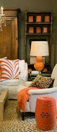 Orange Home Decor, Orange House, Orange County, Cottage, Couch, Furniture, Settee, Sofa, Cottages