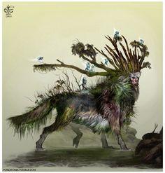 Princess Mononoke, Forest Spirit by vcreatures