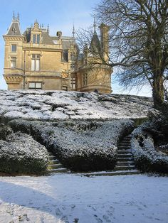 Wintry Stairs - Waddesdon Manor.