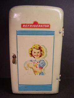 Vintage Toy Refrigerator