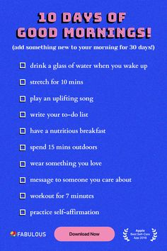 Build better habits with the Fabulous app How To Have A Good Morning, To Do Planner, Vie Motivation, Positive Self Affirmations, Self Care Activities, Bettering Myself, Good Habits, Self Improvement Tips, Better Life