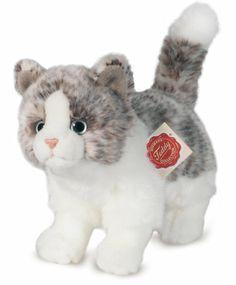Katze stehend grau 20 cm