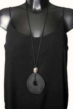 Resin Stone Slice Necklace