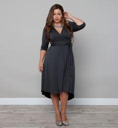 Winona Hi-Lo Wrap Dress from Kiyonna