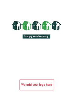 Send happy home anniversary greeting cards and get more realestate greetings card for estate agents to send to clients on the anniversary of their move m4hsunfo