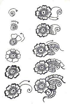Henna flower tutorial
