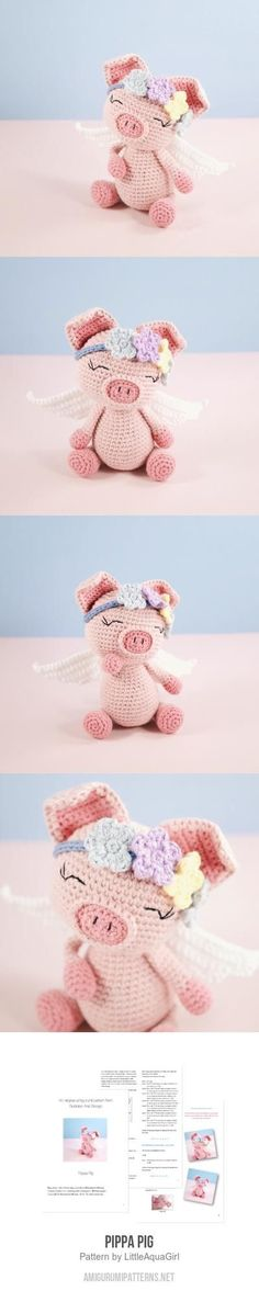 Child Knitting Patterns Pippa Pig amigurumi sample by LittleAquaGirl Go to colchonesbaratos.internet and uncover every thing about mattresses Baby Knitting Patterns Knit Or Crochet, Crochet Patterns Amigurumi, Crochet Crafts, Crochet Dolls, Yarn Crafts, Crochet Projects, Knitting Patterns, Scarf Crochet, Afghan Patterns