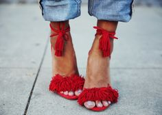 Women's Style Sandal Shoes Chic Fashion Prom Shoes Summer Bucket List Ideas Spring Outfits Women Red Fringe Sandals Tassels Strappy Heels For Big Day Cute Outfits For Girls Sexy Tassels Open Toe Lace Up Sandals , Anniversary, Honeymoon Zpz Shoes, Mode Shoes, Prom Shoes, Me Too Shoes, Shoe Boots, Flat Shoes, Wedding Shoes, Shoes 2016, Footwear Shoes