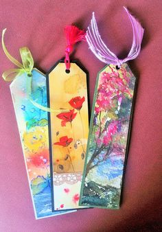 Suluboya Kitap Ayraçları #bookmarks #original #Watercolor #handmade