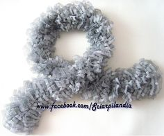 White scarf with black stitching and silver strands, 50% acrylic-50% polyester, 122 x 8 cm    [If you're interested in this item, please follow my Fb page Scarfland (www.facebook.com/Sciarpilandia) and send me a private message or e-mail me at: sciarpilandia_scarfland@hotmail.com]