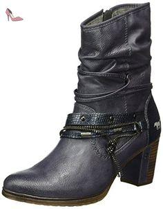 Mustang 1199-506, Bottes Classiques Femme, Bleu (820 Navy), 43 EU - Chaussures mustang (*Partner-Link)