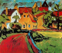 """Erich Heckel (1883-1970) ) was a German painter and printmaker, and a founding member of the Die Brücke group who often filled the role of PR, which allowed the collective to network with other upcoming artists at the time, In 1937 the Nazi Party declared his work """"degenerate""""; it forbade him to show his work in public, and more than 700 items of his art were confiscated from German museums. By 1944 all of his woodcut blocks and print plates had been destroyed."""