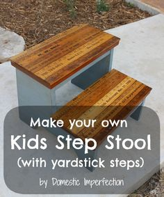 Make your own kids step stool