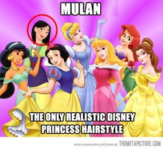 Tell me about it. Disney, my hair is never going to sit like the others...