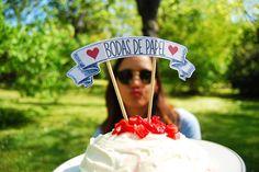 Topo de bolo – aniversário de 1 ano de casamento