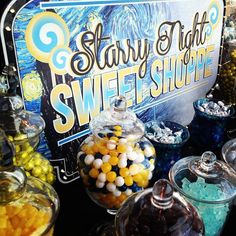 Van Gogh Starry Night theme party | Jackie Sorkin's Fabulously Fun Candy Girls, Candy World, Candy ...