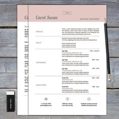 items similar to resume and cover letter template for word cv template on etsy