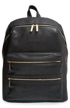 """149.99 13""""W x 18""""H x 4 ½""""D. The Honest Company 'City' Faux Leather Diaper Backpack available at #Nordstrom"""