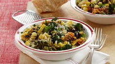 Pasta Salad with Grilled Corn and Broccoli | Dashrecipes.com