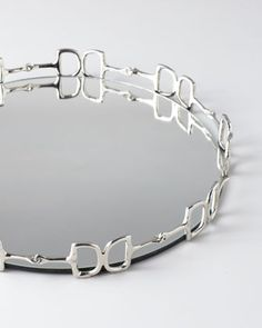 "Mirrored ""Equestrian"" Tray by Regina-Andrew Design - IN L-O-V-E www.thewarmbloodhorse.com"