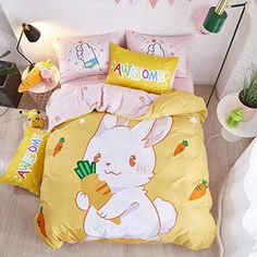 Bed Linen, Linen Bedding, Bedding Sets, Organic Duvet Covers, Yellow Bedding, Cute Room Decor, New Beds, Queen Size Bedding, Beautiful Architecture