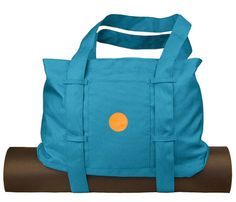 Yogitoes bag, which is made of 100 percent (yes, I said one-hundred) post-consumer recycled material.