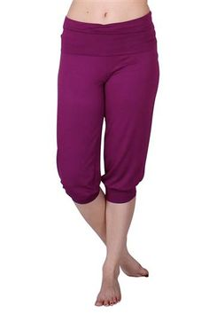 Obi Cropped Rhubarb Red Yoga Capris by Anjali.  Incredibly soft and yummie, these may become your go to pant as the weather gets warmer.   A loose fitting leg with a band at the bottom and a fold over waist band.   Made from a soft Modal and Lycra fabric that is easy to care for, maintains the vibrancy of the colors and great for practice, hike or anything you might be up to. Pinned by KarmicFit | #yoga #yogapants #fitness #exercise #running #yogacapris #capris #fashion #cute