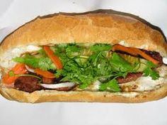 People do not know that Banh My BaTe is a very famous food in not only Vietnam but also the World Hot Appetizers, Snack Recipes, Snacks, Thin Crust, Grilled Pork, Hanoi, Cheesesteak, Salmon Burgers, Food Photo