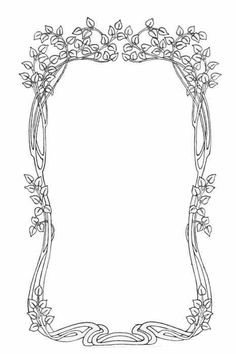 beautiful vining frame ~ art nouveau