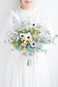 アネモネ野花 ナチュラルクラッチブーケ_01