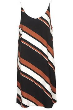 TALL Diagonal Stripe Slip Dress