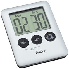 Need a few minutes? Pick up the Mini Digital Timer. It's the perfect size for use in the kitchen or around the house, with an easy-to-read display. Use either the countdown or count-up timer and enjoy an elapsed time graphic plus an alarm. A magnetic back allows you to affix it to any metal surface, but it's lightweight enough to carry around. A precise start/stop function even works as a stopwatch.