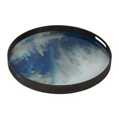 Discover the Notre Monde Blue Mist Glass Tray - Small at Amara