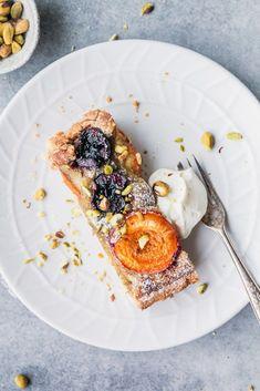 Apricot & Tahini Pistachio Frangipane Tart