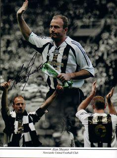 Signed Alan Shearer Newcastle United Testimonial Montage | Its Signed Memorabilia