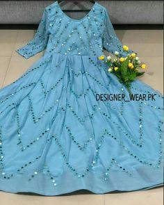 Party Wear Indian Dresses, Pakistani Fashion Party Wear, Indian Fashion Dresses, Indian Designer Outfits, Designer Dresses, Designer Wear, Fancy Dress Design, Stylish Dress Designs, Designs For Dresses