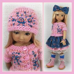 OOAK Pink and Blue from maggie_kate_create on ebay ends 7/30/14.