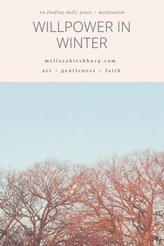 Willpower in Winter — Melissa Hirshburg