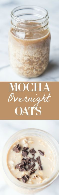 These Mocha Overnight Oats are the perfect combination of coffee and chocolate to get you going in the morning! Best of all, this breakfast can be prepared the night before! #ad