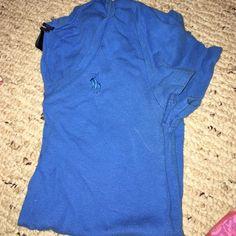 Polo shirt Blue polo shirt worn but good condition Ralph Lauren Tops Tees - Short Sleeve